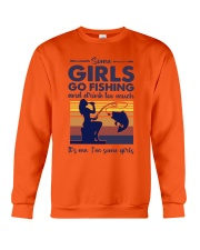 some girls go fishing and drink to much its me  Crewneck Sweatshirt tile