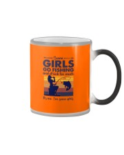 some girls go fishing and drink to much its me  Color Changing Mug tile