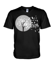 Fall Leaves Autumn Funny Tee shirts V-Neck T-Shirt thumbnail