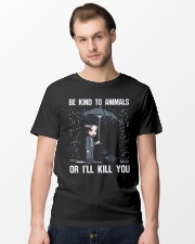 Be Kind To Animals Or I'll Kill You Classic T-Shirt lifestyle-mens-crewneck-front-15