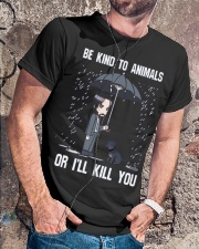 Be Kind To Animals Or I'll Kill You Classic T-Shirt lifestyle-mens-crewneck-front-4
