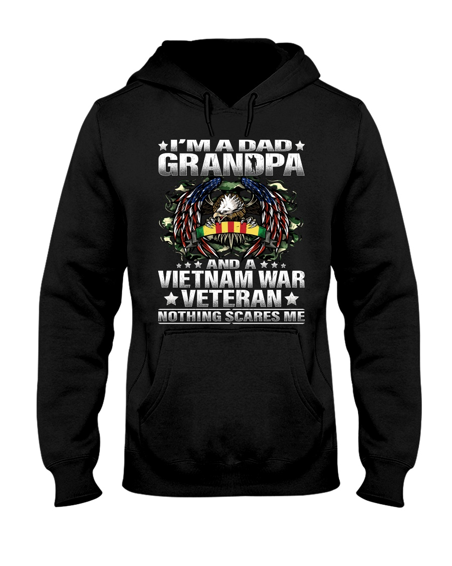 I'm a Dad Grandpa and a Vietnam Veteran Hooded Sweatshirt