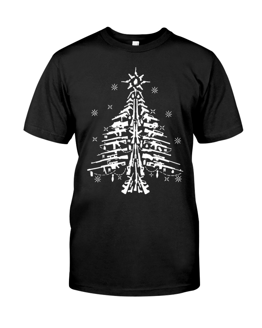 Guns Christmas Tree Handgun Assault Rifle Classic T-Shirt
