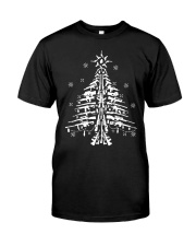 Guns Christmas Tree Handgun Assault Rifle Classic T-Shirt front