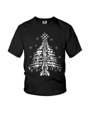Guns Christmas Tree Handgun Assault Rifle Youth T-Shirt thumbnail