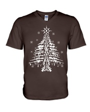 Guns Christmas Tree Handgun Assault Rifle V-Neck T-Shirt thumbnail