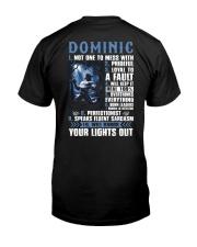 Dominic Premium Fit Mens Tee back