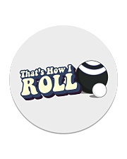 Lawn Bowls - That's How I Roll Circle Coaster tile