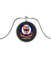 GCA Class of 2020 School Crest Metallic Circle Necklace thumbnail