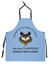 Back To School Full Color 4 Apron front