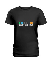 Whats Your Sign Skiing Ladies T-Shirt thumbnail