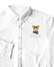 Corgi Happy Hanukkah Corgi Funny Jewish Holiday Dress Shirt garment-embroidery-dressshirt-lifestyle-06
