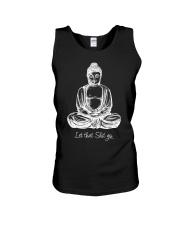 Let That Shit Go Cool Meditating Budd Unisex Tank thumbnail