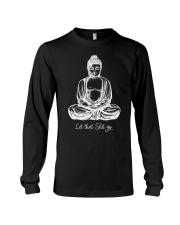 Let That Shit Go Cool Meditating Budd Long Sleeve Tee thumbnail