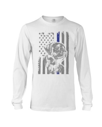 BLACK LABRADOR - FLAG American Thin Blue