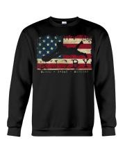 USA Flag Colors Rugby Blood Sweat Bru Crewneck Sweatshirt thumbnail