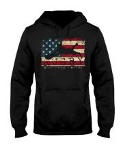 USA Flag Colors Rugby Blood Sweat Bru Hooded Sweatshirt thumbnail