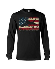 USA Flag Colors Rugby Blood Sweat Bru Long Sleeve Tee thumbnail