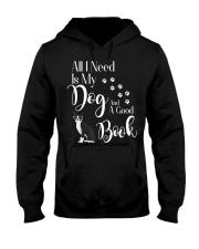 Boston Terrier Gifts I love My Dog Reading Hooded Sweatshirt thumbnail