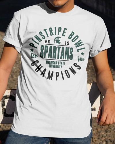 Michigan State Pinstripe Bowl Champions Shirt