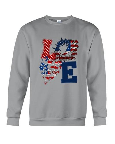 Love Jesus American Flag 4Th Of July