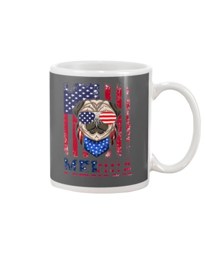 Bulldog American Flag Gifts For Independence Day