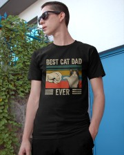 Best Cat Dad Ever Retro Vintage Classic T-Shirt apparel-classic-tshirt-lifestyle-17