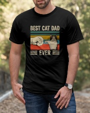 Best Cat Dad Ever Retro Vintage Classic T-Shirt apparel-classic-tshirt-lifestyle-front-53