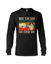 Best Cat Dad Ever Retro Vintage Long Sleeve Tee thumbnail