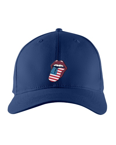 American Flag Lips T-Shirt Lips American Flag
