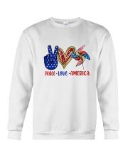 Peace Love American Flag 4Th Of July Crewneck Sweatshirt thumbnail