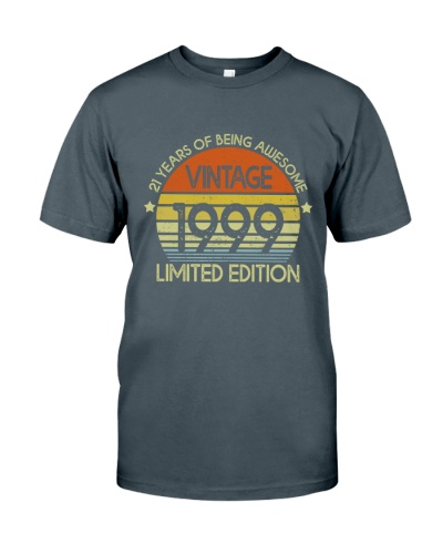 Vintage 1999 21 Years Of Being Awesome T-Shirt