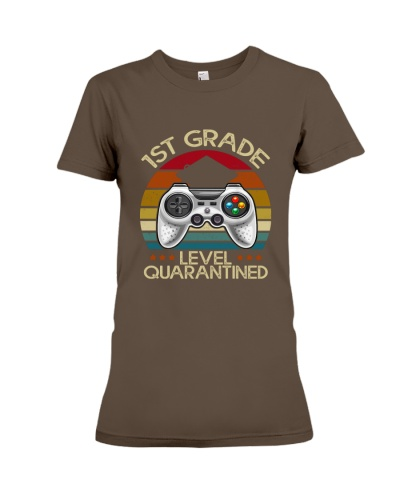1st Grade Level Quarantined Vintage Retro