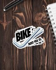MTB Sticker Bike Just Fix It Sticker - 4 pack (Vertical) aos-sticker-4-pack-vertical-lifestyle-front-05
