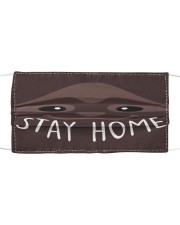 Stay Home Sloth Cloth face mask front