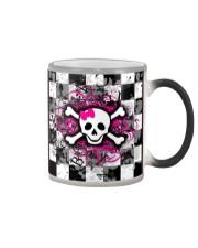 QV Skull Love Face Mask Color Changing Mug tile