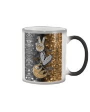Phone Peace Love Sloth Color Changing Mug thumbnail