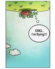 Turtle OMG I'm Flying 11x17 Poster front