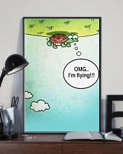 Turtle OMG I'm Flying 11x17 Poster lifestyle-poster-2