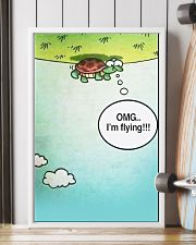Turtle OMG I'm Flying 11x17 Poster lifestyle-poster-4