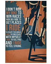 I Ride My Bike 11x17 Poster front