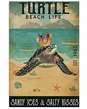 Turtle Sandy Toes And Salty Kisses 11x17 Poster front