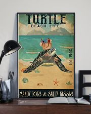 Turtle Sandy Toes And Salty Kisses 11x17 Poster lifestyle-poster-2