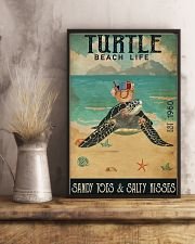 Turtle Sandy Toes And Salty Kisses 11x17 Poster lifestyle-poster-3