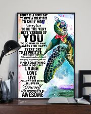 Turtle Good Day 11x17 Poster lifestyle-poster-2