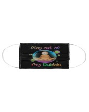 Sloth Stay out of my bubble  Cloth face mask aos-face-mask-coverlet-lifestyle-front-01