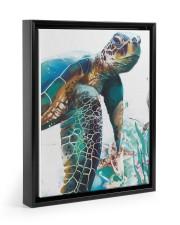 Turtle Art 2606 11x14 Black Floating Framed Canvas Prints thumbnail