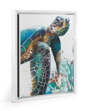 Turtle Art 2606 11x14 White Floating Framed Canvas Prints thumbnail