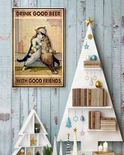 Drink Good Beer With Good Friends - CAT 11x17 Poster lifestyle-holiday-poster-2