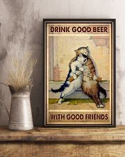 Drink Good Beer With Good Friends - CAT 11x17 Poster lifestyle-poster-3